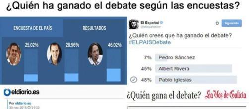 Podemos gana el primer debate electoral