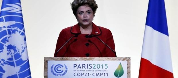 Dilma Rousseff discursa na COP-21 em Paris