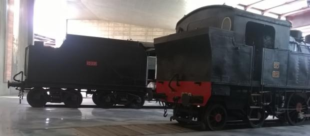 Rotunda de locomotivas no Entroncamento.