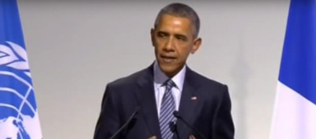 US President Obama at climate summit in Paris
