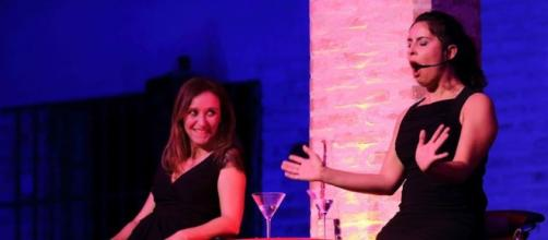 Las actrices Antonia Zurera y Alicia Remesal.