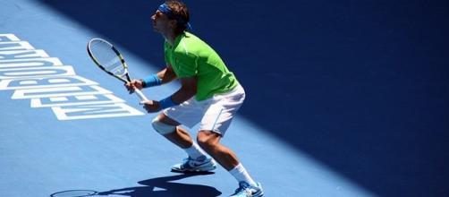 Rafael Nadal during the Australian Open