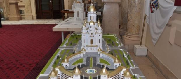 Macheta Catedralei Mântuirii Neamului