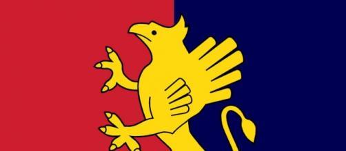 Il Grifone rampante, simbolo del Genoa.