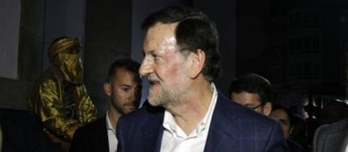 La cara de Mariano Rajoy tras ser agredido