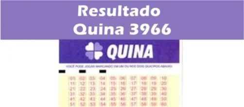 Resultado do jogo da Quina 3966