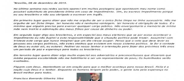 confira a carta aberta de Tiririca