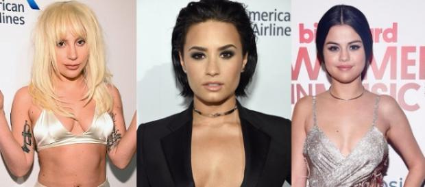 Lady Gaga, Demi Lovato e Selena Gomez
