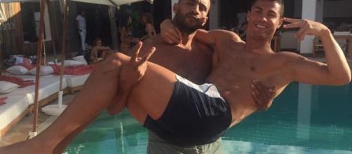 Cristiano Ronaldo e e il kickboxer Badr Hari