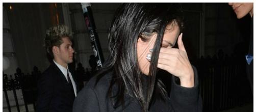 Selena Gomez à saída do Factor X com Niall