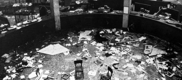 La Banca dell'Agricoltura dopo l'esplosione