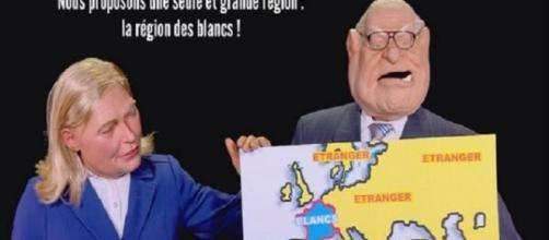 Les Guignols parodian la Francia ideal de Le Pen.