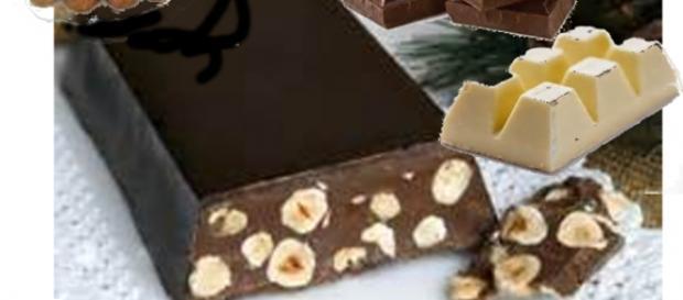 Torrone casalingo con nocciole al cioccolato