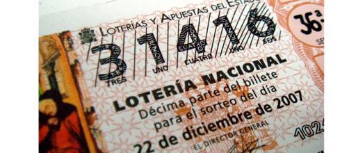 Décimo de la lotería de Navidad del año 2007