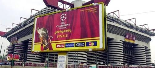 Lo stadio Meazza sede della finale di Champions