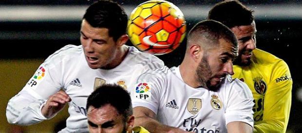 CR7 y Benzema, en el choque contra el Villarreal