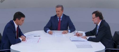 Debate entre Pedro Sánchez y Mariano Rajoy.
