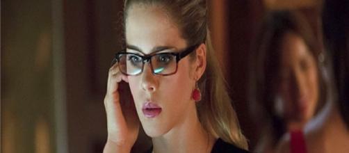 Emily Bett Rickards, en un fotograma de 'Arrow'