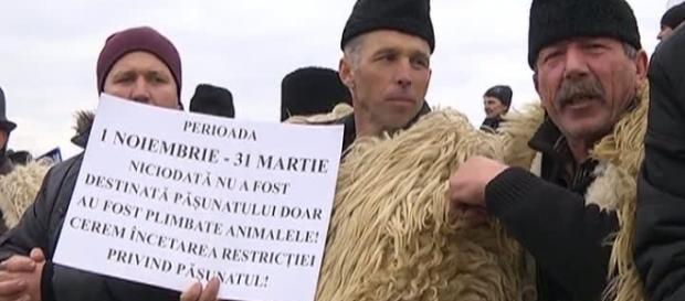 Ciobanii au luat cu asalt parlamentul
