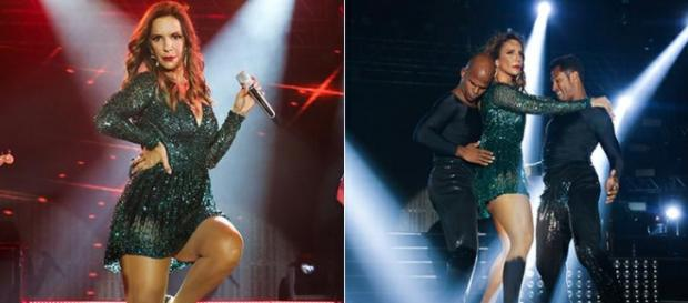 Ivete Sangalo liga para Anitta durante show
