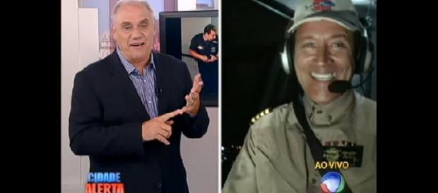 O Comandante Hamilton e Marcelo Rezende