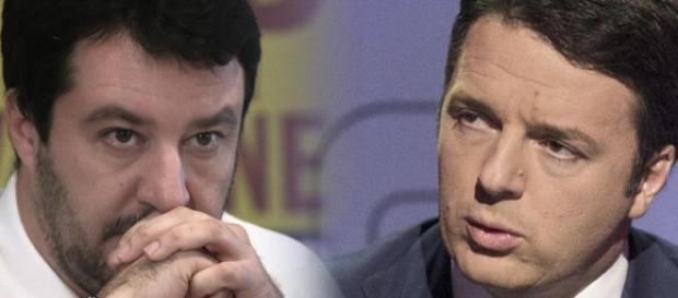 Salvini chiede la sfiducia del premier Renzi.