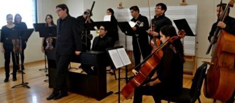 Estudiantes de música en Valencia.