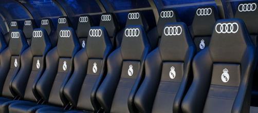 El banquillo del Real Madrid en el Bernabéu