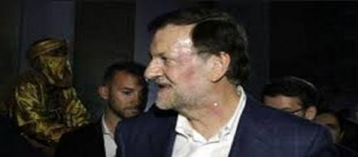 El rostro de Mariano Rajoy después del puñetazo