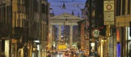 Scorcio di Corso Porta Ticinese a Milano