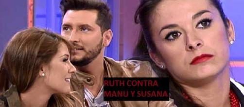 Susana junto a su novio Manu y Ruth