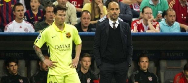 Messi und Guardiola. Bildquelle: bbc.com