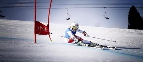 La svizzera Lara Gut in allenamento