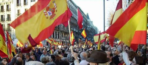 Manifestación de exaltación patriótica en Madrid