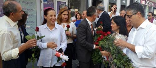 Patricia Hernández, en su paseo por Triana.