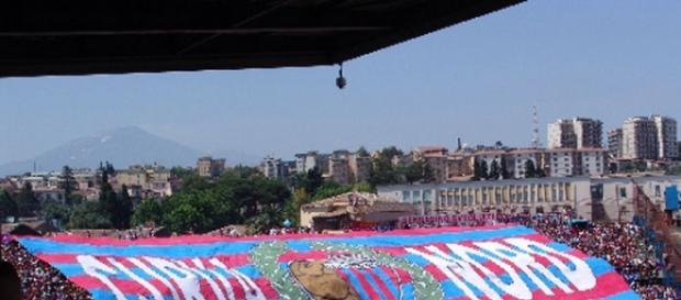 Coreografia curva nord Catania