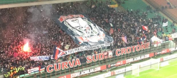 I supporters pitagorici presenti a San Siro
