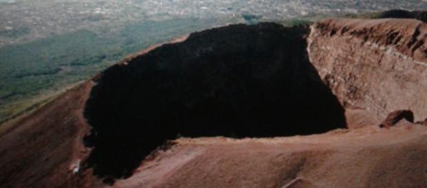 Il vulcano Vesuvio attualmente quiescente