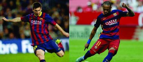 Messi e Neymar correm para chegar a final