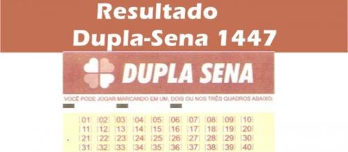 Resultado do jogo Dupla-Sena 1447