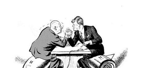 Viñeta del pulso entre ambos gobiernos