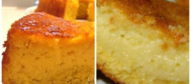 O sabor do bolo lembra o da pamonha.