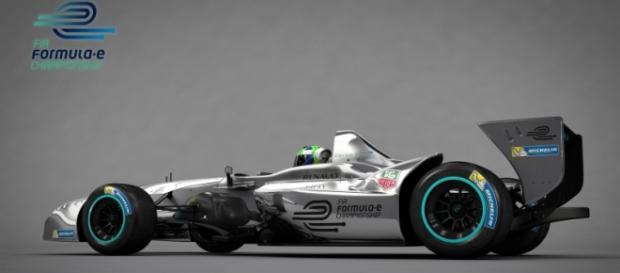 El ganador Sebastien Buemi con su Renault e.dams