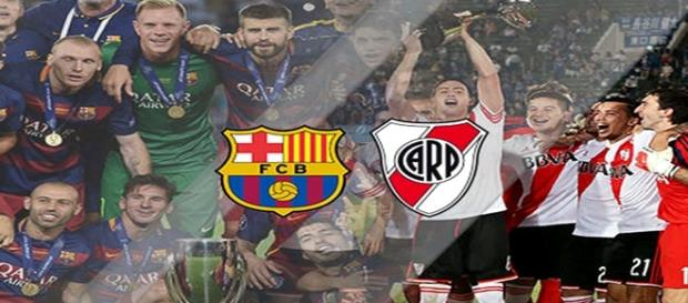Jogadores de Barcelona e River Plate