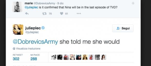 L'annuncio del ritorno di Elena