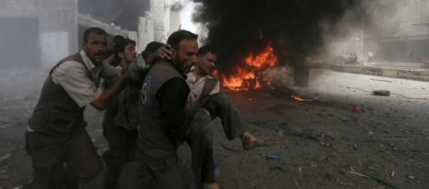Os ataques aéros na Síria são diários
