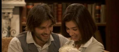 Maria e Gonzalo felici con Esperanza