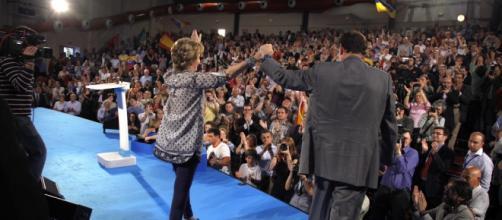 Mariano Rajoy con Esperanza Aguirre