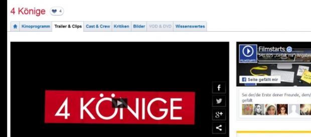 """""""4 Könige"""" startet am 3. Dezmeber 2015 im Kino"""