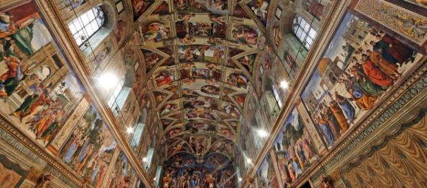 Decoração interior da Capela Sistina.